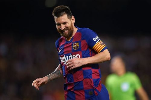 Messi opened his account for the season with a sumptuous freekick