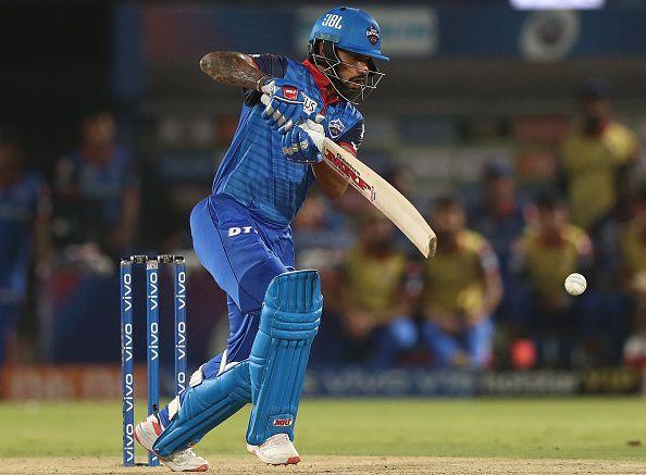 Shikhar Dhawan batting for Delhi Capitals