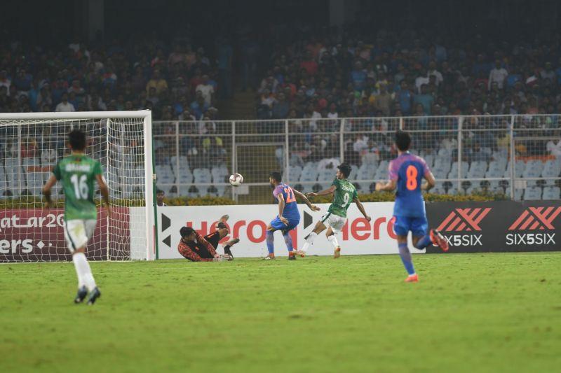 Gurpreet Singh Sandhu was unable to repeat his heroics against Qatar.