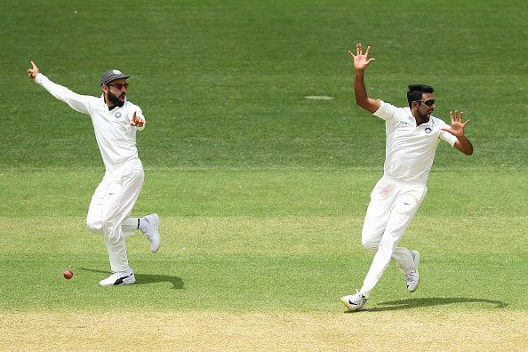 Ravichandran Ashwin appealing for a wicket
