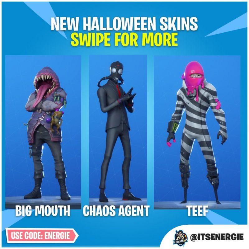 New Halloween Skins (Image credit: FireMonkey • Fortnite Intel, Twitter)