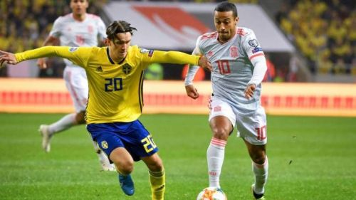 Spain and Sweden played out an entertaining 1-1 draw