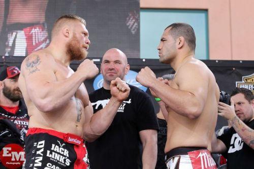 Brock Lesnar and Cain Velasquez