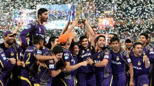 KKR won the IPL Trophy in the years 2012 and 2014