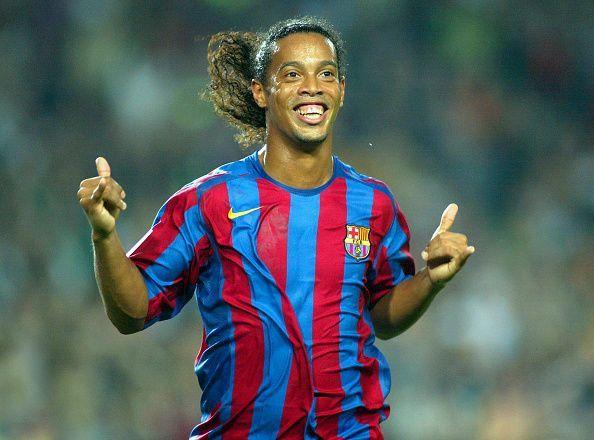 Ronaldinho during his glory days with Barcelona