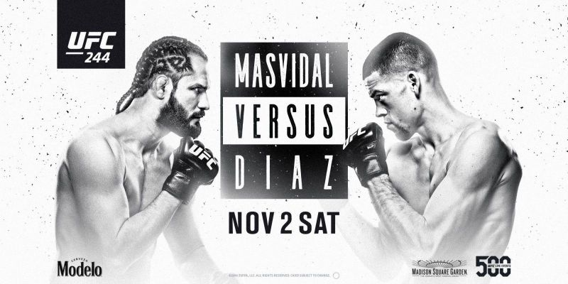 Jorge Masvidal faces Nate Diaz in the much-anticipated main event of UFC 244