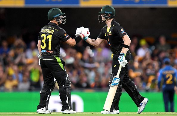 David Warner and Steve Smith ensured Australia coasted to a win over Sri Lanka.