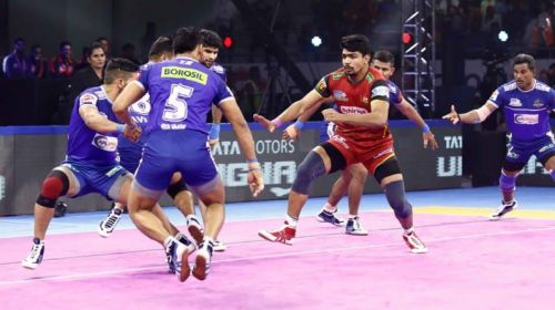 Bengaluru Bulls' Pawan Sehrawat recorded the most raid points (39) in a single match of PKL history.