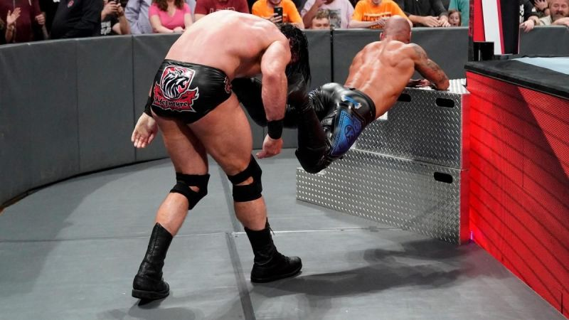 Drew decimated Ricochet after the match
