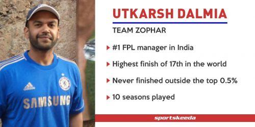 Utkarsh Dalmia - Team Zophar - Fantasy Premier League