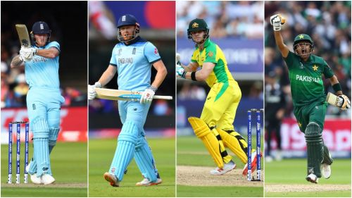 From left to right: Ben Stokes, Jonny Bairstow, Steve Smith and Babar Azam.