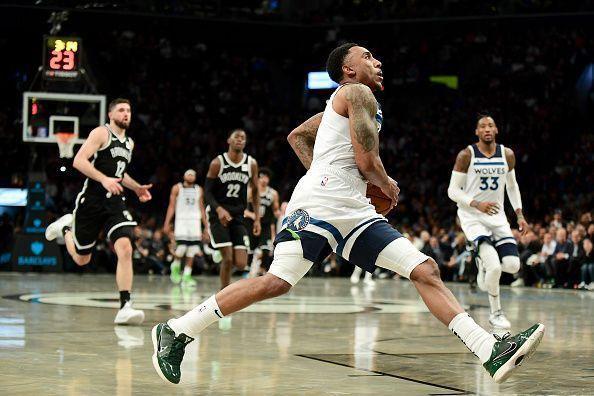 Jeff Teague is currently starting at point guard for the Minnesota Timberwolves