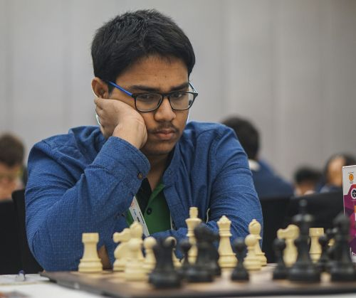 Aronyak Ghosh is seen in action
