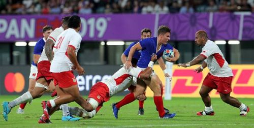 France was able to wrestle past Tonga with a 23-21 win in Kumatono