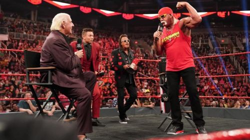 Hulk Hogan and Ric Flair came face to face on this week's Raw