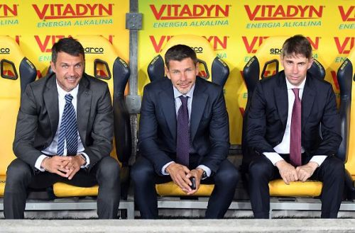 Paolo Maldini and Zvonimir Boban (from left to centre).