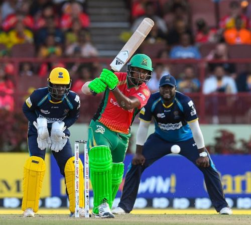 Action from the Guyana Amazon Warriors v Barbados Tridents encounter.