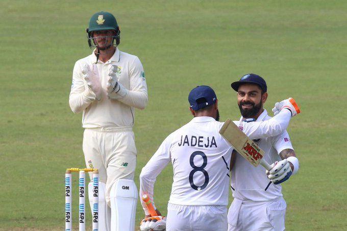 विराट कोहली और रविंद्र जडेजा ने दक्षिण अफ्रीका के खिलाफ बेहतरीन पारी खेली