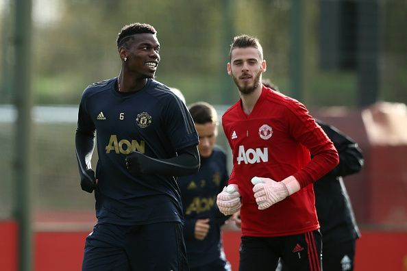 Paul Pogba and David De Gea will both be unavailable when Manchester United take on Liverpool.
