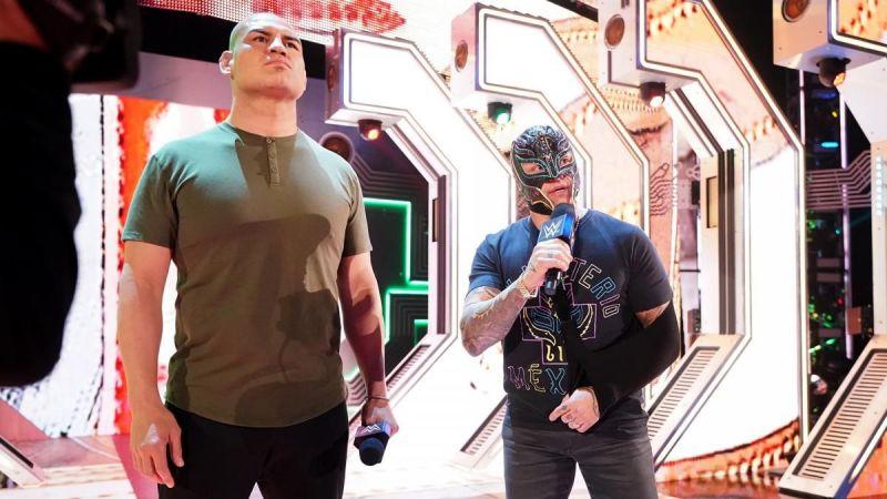 Velasquez and Rey Mysterio