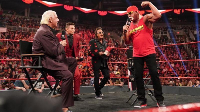 Ric Flair and Hulk Hogan on Miz TV this week
