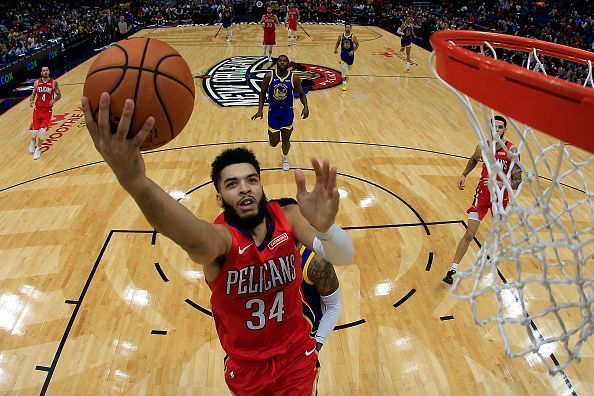 Action from Golden State Warriors v New Orleans Pelicans