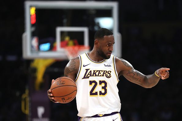 LeBron James took over in the fourth quarter in the Lakers