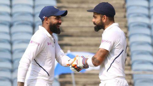 India captain Virat Kohli (right) and Ravindra Jadeja