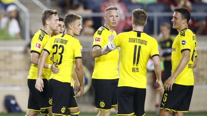 Borussia Dortmund returned to the top four following their victory over Monchengladbach