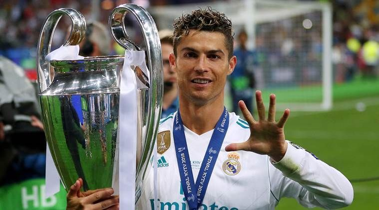 Ronaldo celebrates his fifth UEFA Champions League title in 2017-18