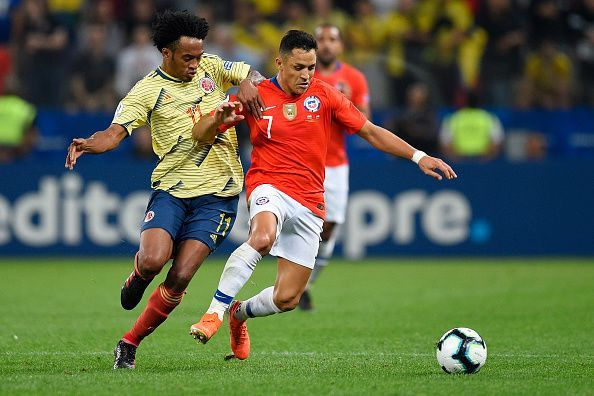 Colombia and Chile played out a goalless draw in Spain