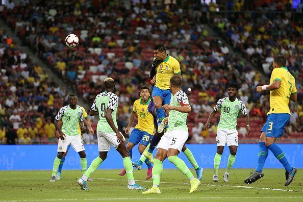 Nigeria played a 1-1 draw with Brazil