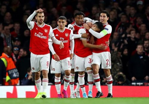 Arsenal were irresistible in the first half