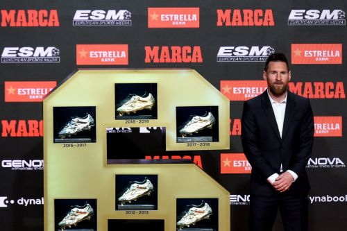 Lionel Messi has added a sixth Golden shoe to his collection