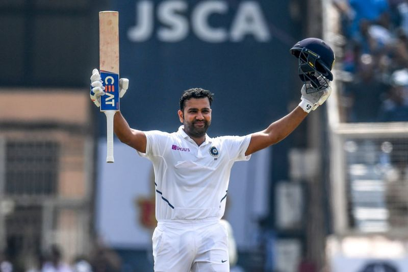 Rohit Sharma soaks in the applause after reaching his double hundred