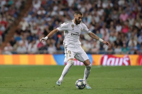 Real Madrid's Karim Benzema in action