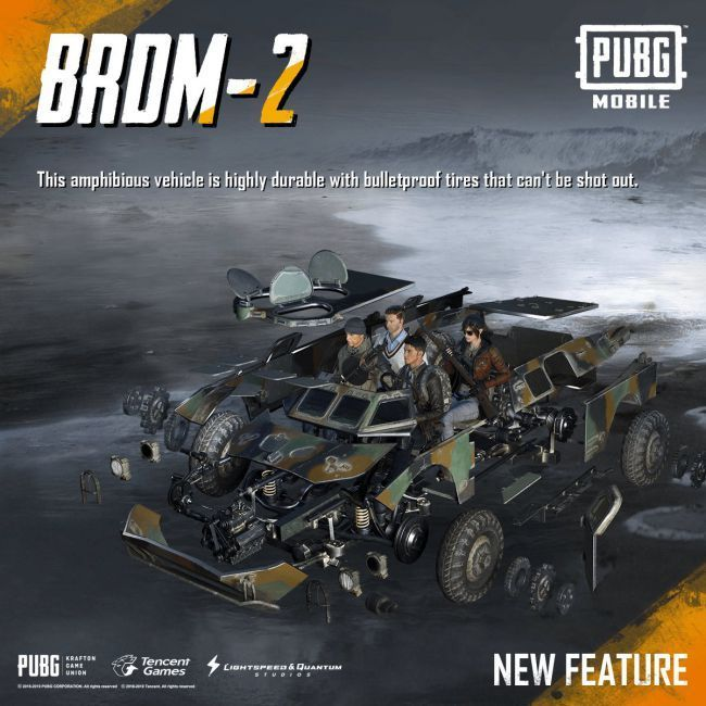 BRDM-2 is an amphibious vehicle in PUBG Mobile which is probably the safest to commute in