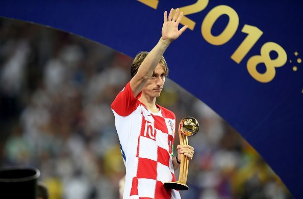 Luka Modric won the Golden Ball at the 2018 World Cup