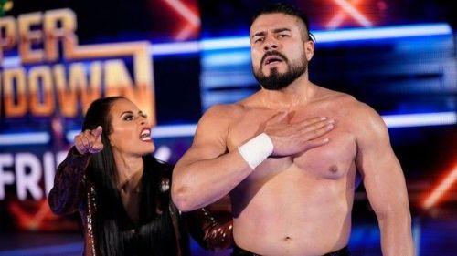 Andrade with Zelina Vega (RAW)