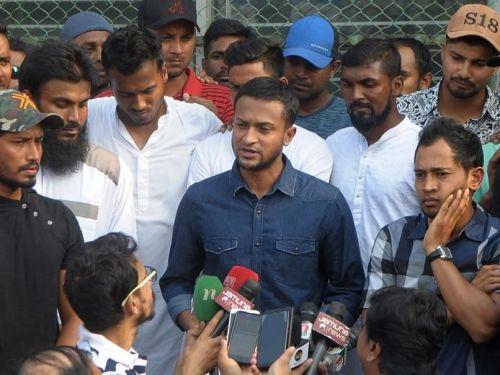 Shakib Al Hasan leads the cricketer's strike against the BCB.