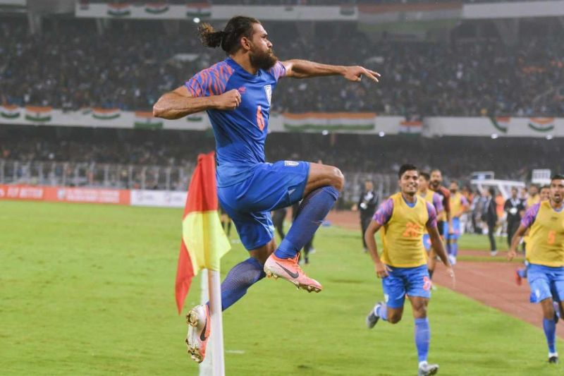 A late goal from Adil Khan helped India earn a point in Kolkata.