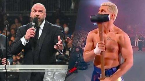 Cody Rhodes' AEW (right) has once again beaten Triple H's NXT