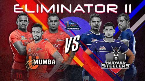 U Mumba vs. Haryana Steelers (Eliminator 2, Pro Kabaddi)
