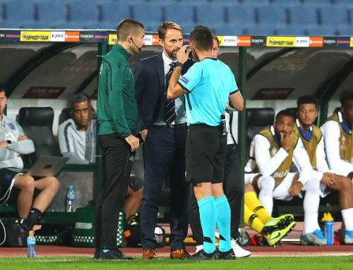 Gareth Southgate had lengthy discussions with the referee