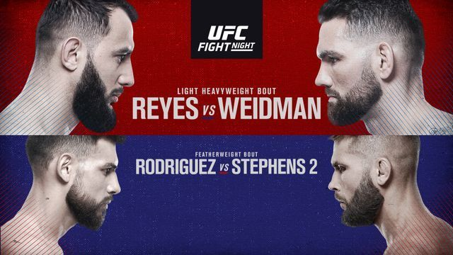 The UFC presents a rare Friday show this week as Chris Weidman takes on Dominick Reyes