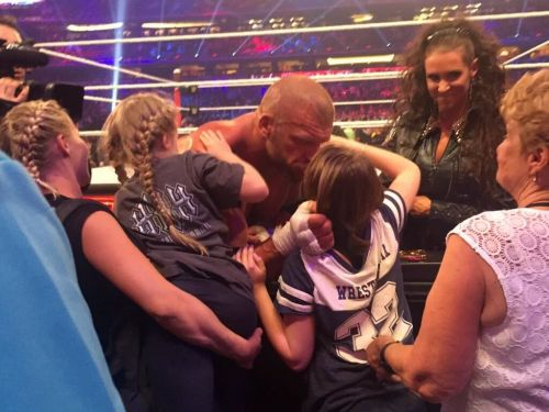Triple H and Stephanie with their daughters