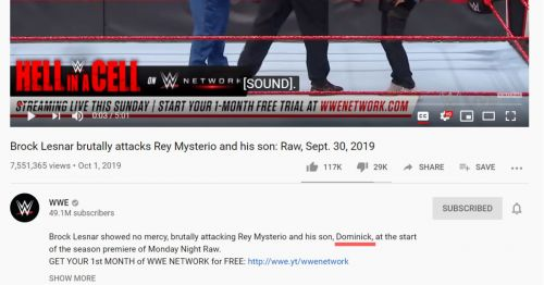 Screenshot from WWE's official Youtube channel.