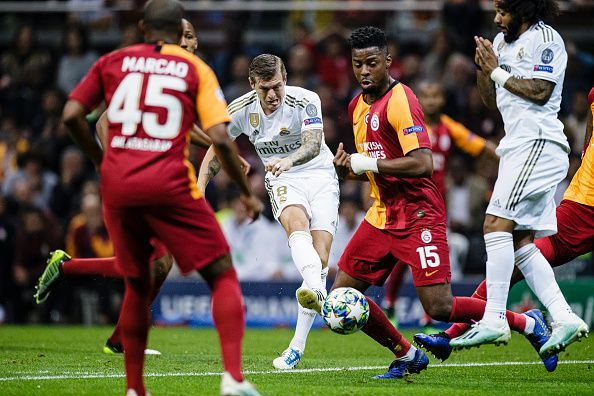 Madrid and Galatasaray played out a thrilling first half