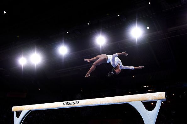 Simeone Biles is now the most decorated World Championship gymnast of all-time.
