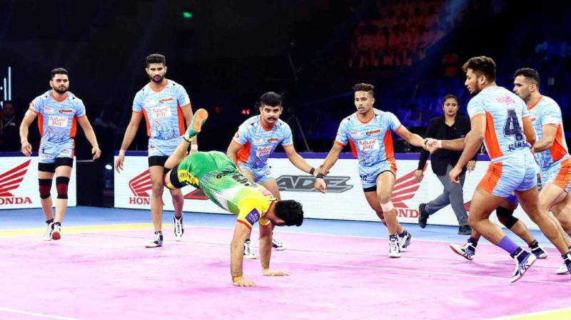 Adarsh T was playing his second season for Bengal Warriors